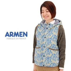 ARMEN アーメン レディース リバティプリントリバーシブルフード付きベスト(NAM0971L)(FW)|u-oak