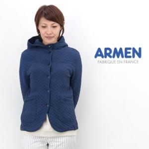 ARMEN アーメン レディース コットンキルトフードジャケット(NAM0555)(BASIC)|u-oak