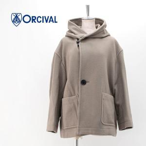ORCIVAL オーシバル レディース ライトウールモッサー ショールカラー フード ジャケット(RC-8078NLM)(2020FW) u-oak