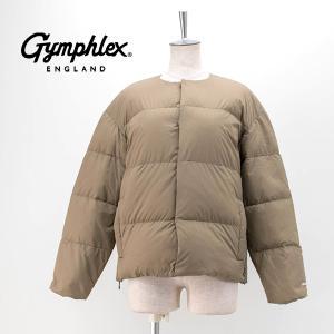 Gymphlex ジムフレックス レディース 20D MATTE NYLON TAFFETA ホワイトグースダウン ノーカラーダウンジャケット(J-1442NMT)(2020FW)|u-oak