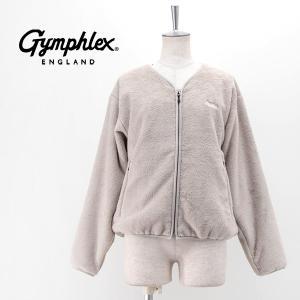 Gymphlex ジムフレックス レディース ハイパイルフリース ノーカラーブルゾン(J-1447)(2020FW)|u-oak