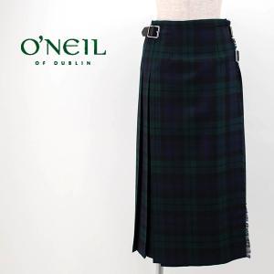 O'NEIL OF DUBLIN オネイル/オニールオブダブリン レディース WORSTED WOOL キルトスカート(124-77)(2020FW)|u-oak