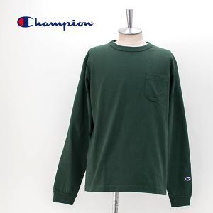Champion チャンピオン メンズ T1011 ポケット付ロングスリーブTシャツ(C5-P401)(2020FW)|u-oak
