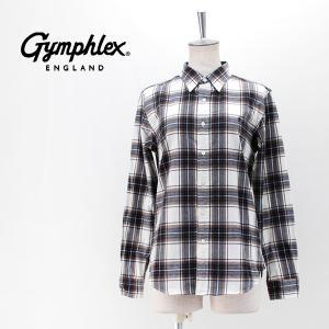 Gymphlex ジムフレックス レディース ビエラ起毛チェック ボタンダウンシャツ(J-0872VHC)(BASIC)|u-oak