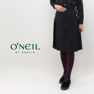 O'NEIL OF DUBLIN オネイル/オニールオブダブリン レディース 100%WORSTEDWOOL プリーツラップスカート(124)(BASIC)|u-oak