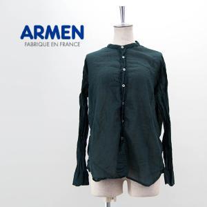 ARMEN アーメン レディース ユーティリティ バンドカラーシャツ(INAM1702GD)(2021SS)|u-oak