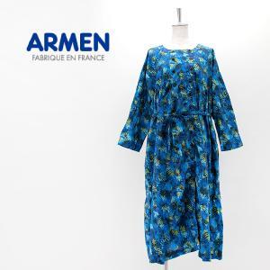 ARMEN アーメン レディース コットンプリント スモックドレス(2101)(2021SS)|u-oak