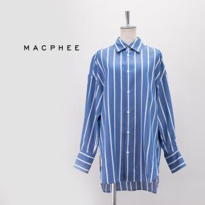 (SALE 20%OFF)TOMORROWLAND MACPHEE マカフィー レディース ストライプワイドシャツ(12-01-11-01037HN)(2021SS)(返品交換不可) u-oak