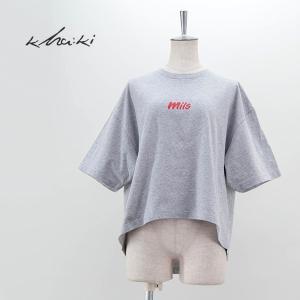 (SALE 40%OFF)kha:ki カーキ レディース オーバーサイズ プリントTシャツ(MIL-21HCS239A)(2021SS)(返品交換不可) u-oak
