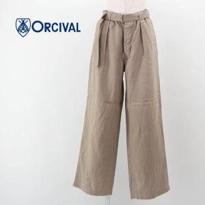 ORCIVAL オーシバル レディース リネンクロス イージーパンツ(RC-2660YLM)(2021SS) u-oak