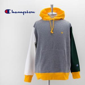 (SALE 50%OFF)Champion チャンピオン メンズ カラーブロック フーデッドスウェットシャツ(C3-T114)(2021SS)(返品交換不可)|u-oak