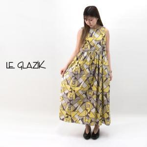Le glazik ル グラジック レディース バティックプリント ノースリーブワンピース(JL-3661BTK)(BASIC)|u-oak