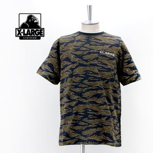 XLARGE エクストララージ メンズ SKULL CAMO ポケットTシャツ(101213011019)(2021FW)|u-oak