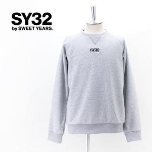 SY32 by SWEET YEARS エスワイサーティトゥバイスィートイヤーズ メンズ ワールドスター クルーネック スウェット(TNS1718)(2021FW)|u-oak