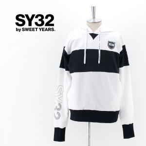 SY32 by SWEET YEARS エスワイサーティトゥバイスィートイヤーズ メンズ エクスチェンジ プルオーバーフーディー(TNS1743)(2021FW)|u-oak