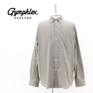 Gymphlex ジムフレックス メンズ チェック ボタンダウンシャツ(GY-B0012ECP)(2021FW)|u-oak