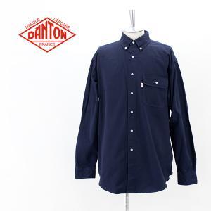 DANTON ダントン メンズ コットンツイル ワークシャツ(DT-B0002CTW)(2021FW)|u-oak