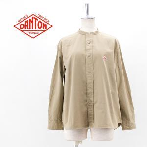 DANTON ダントン レディース コットンツイル バンドカラーシャツ(DT-B0001CTW)(2021FW)|u-oak