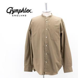 Gymphlex ジムフレックス メンズ バンドカラーシャツ(J-1352BIT)(2021FW)|u-oak