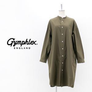 Gymphlex ジムフレックス レディース バンドカラー シャツドレス(J-1363BIT)(2021FW)|u-oak