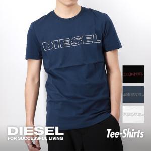 ディーゼル Tシャツ メンズ 00CG46-0DARX DIESEL トップス ラウンドネック ロゴプリント シャツ カジュアル オフプライス ブランド おしゃれ|u-stream