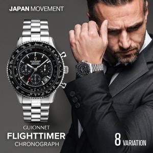 ギオネ GUIONNET デキるおしゃれ男が選ぶ本格パイロット・クロノグラフ FT42 フライトタイ...