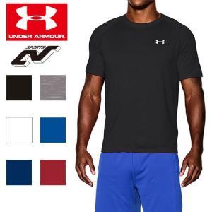 セール アンダーアーマー Tシャツ メンズ ヒートギア(夏用) サラリ素材 テック ワンポイントTシャツ 抗菌防|uacv