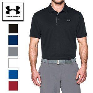 アンダーアーマー ゴルフウェア メンズ ポロシャツ 1290140 ヒートギア(夏用) ゴルフ ワンポイント UNDER ARMOUR テックポロ|uacv