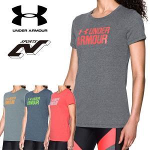 セール アンダーアーマー レディース Tシャツ トップス ヒートギア UNDER ARMOUR スレッドボーンツイストグラフ|uacv