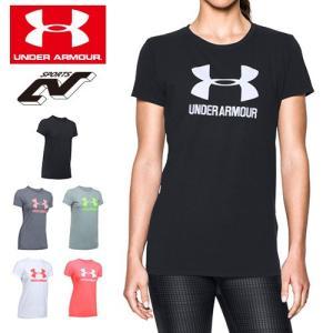 セール アンダーアーマー レディース Tシャツ ビッグロゴ ヒートギア UNDER ARMOUR スポーツスタイルクルーTシャ|uacv