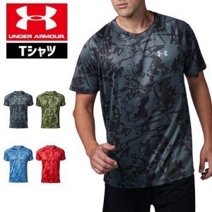 アンダーアーマー メンズ Tシャツ トップス グラフィックTシャツ 1320208 UNDER ARMOUR スピードストライドプリントTシャツ|uacv
