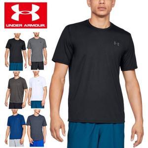 アンダーアーマー メンズ Tシャツ 定番Tシャツ ワンポイントTシャツ 1325029 ヒートギア(夏用) UNDER ARMOUR スレッドボーンTシャツ|uacv