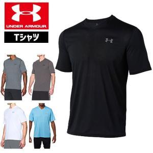 セール アンダーアーマー メンズ Tシャツ Vネック ヒートギアUNDER ARMOUR スレッドボーンVネックTシャツ 1325168|uacv