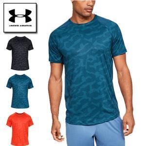 アンダーアーマー メンズ Tシャツ インナー フィッティド グラフィックTシャツ 1327249 ヒートギア(夏用) UNDER ARMOUR MK-1 Tシャツ<プリント>|uacv