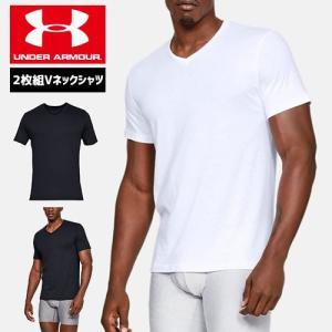 アンダーアーマー メンズ アンダーウェア インナー Tシャツ Vネック 2枚セット 1327429 ヒートギア(夏用) UNDER ARMOUR チャージドコットンVネックシャツ|uacv