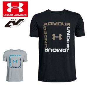 アンダーアーマー ジュニア Tシャツ 130 140 150 160 1329099 小学生 ヒートギア(夏用) UNDER ARMOUR ボックスロゴTシャツ|uacv