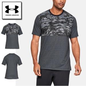 アンダーアーマー メンズ Tシャツ メッシュ カモ柄 1329279 ヒートギア(夏用) UNDER ARMOUR スポーツスタイルコットンメッシュTシャツ|uacv