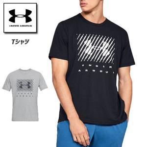 アンダーアーマー メンズ Tシャツ グラフィックTシャツ トップス 1329588 ヒートギア(夏用) UNDER ARMOUR ブランドビッグロゴTシャツ|uacv