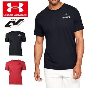 アンダーアーマー メンズ Tシャツ グラフィックTシャツ トップス 1329593 UNDER ARMOUR スタックレフトチェストTシャツ|uacv