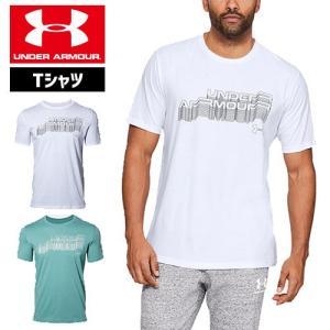アンダーアーマー メンズ Tシャツ グラフィックTシャツ 1329596 ヒートギア(夏用) UNDER ARMOUR コットンTシャツ<マルチワードマーク>|uacv