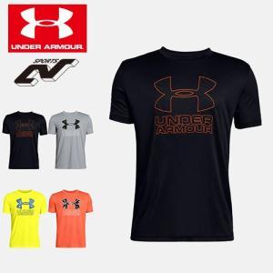 アンダーアーマー Tシャツ ジュニア ユース ビッグロゴ 1329819 130 140 150 160 UNDER ARMOUR テックTシャツ<ビッグロゴプリント>|uacv