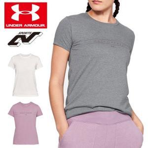 アンダーアーマー レディース Tシャツ 1330349 ヒートギア(夏用) UNDER ARMOUR グラフィックワードマーククラシックTシャツ|uacv
