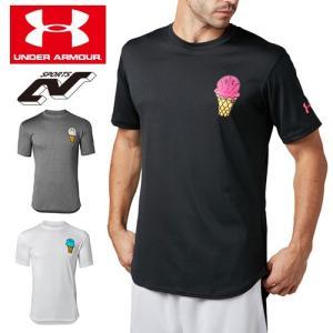 アンダーアーマー メンズ Tシャツ グラフィックTシャツ 限定グラフィック 1331555 ヒートギア(夏用) UNDER ARMOUR テックTシャツ<Ice Cream>|uacv