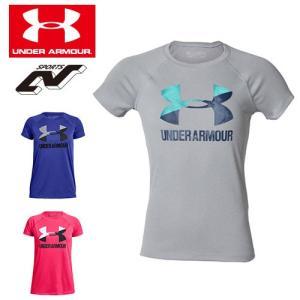 アンダーアーマー ジュニア Tシャツ ビッグロゴ ガールズ 1331678 女の子  UNDER ARMOUR ビッグロゴソリッドTシャツ|uacv