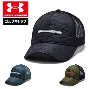 アンダーアーマー メンズ キャップ ゴルフキャップ 帽子 1343175 UNDER ARMOUR ライフスタイルトラッカーキャップ|uacv