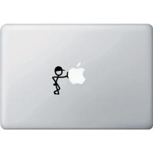 MacBook Air / Pro マックブック ステッカー シール 人 リーン Lean 帽子 キ...