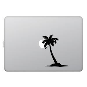 MacBook Air / Pro マックブック ステッカー シール テレビ CM パームツリー  ...