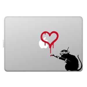 MacBook Air / Pro マックブック ステッカー シール ラブ ラット バンクシー LO...