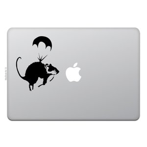 MacBook Air / Pro マックブック ステッカー シール パラシュート ラット バンクシ...