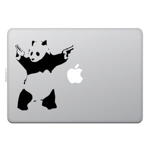 MacBook Air / Pro マックブック ステッカー シール シューティング パンダ バンク...